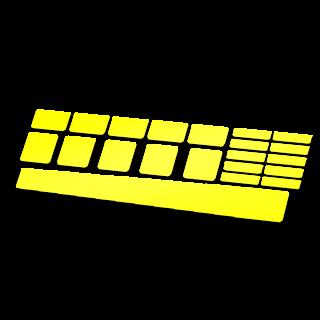 Set 21 Framebescherming glans kleur vierkanten