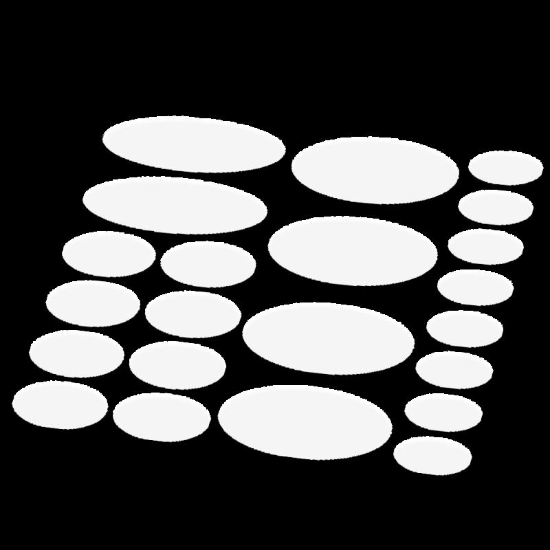 Ovaal framebescherming transparant