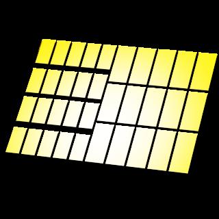 Reflecterende stickers rechthoek