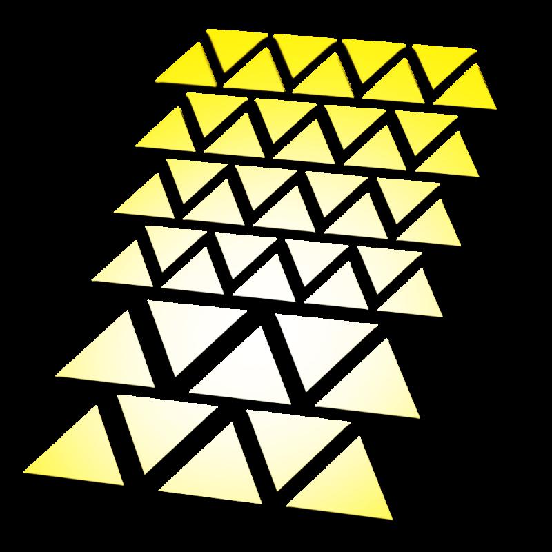 Reflecterende stickers driehoek
