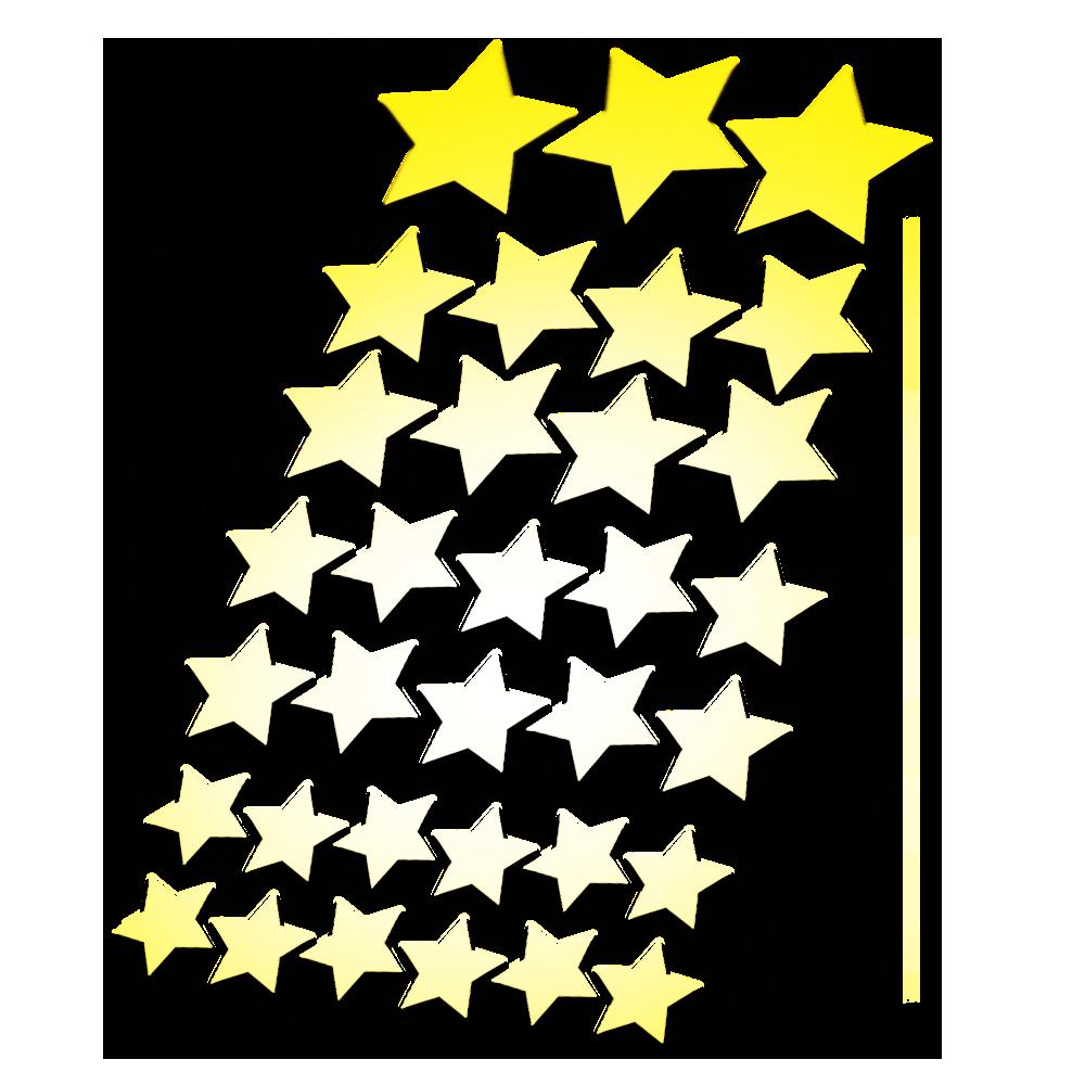 Reflecterende stickers sterren