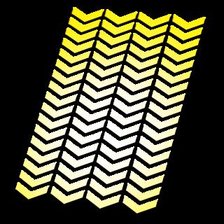 Reflecterende stickers Klein Chevron