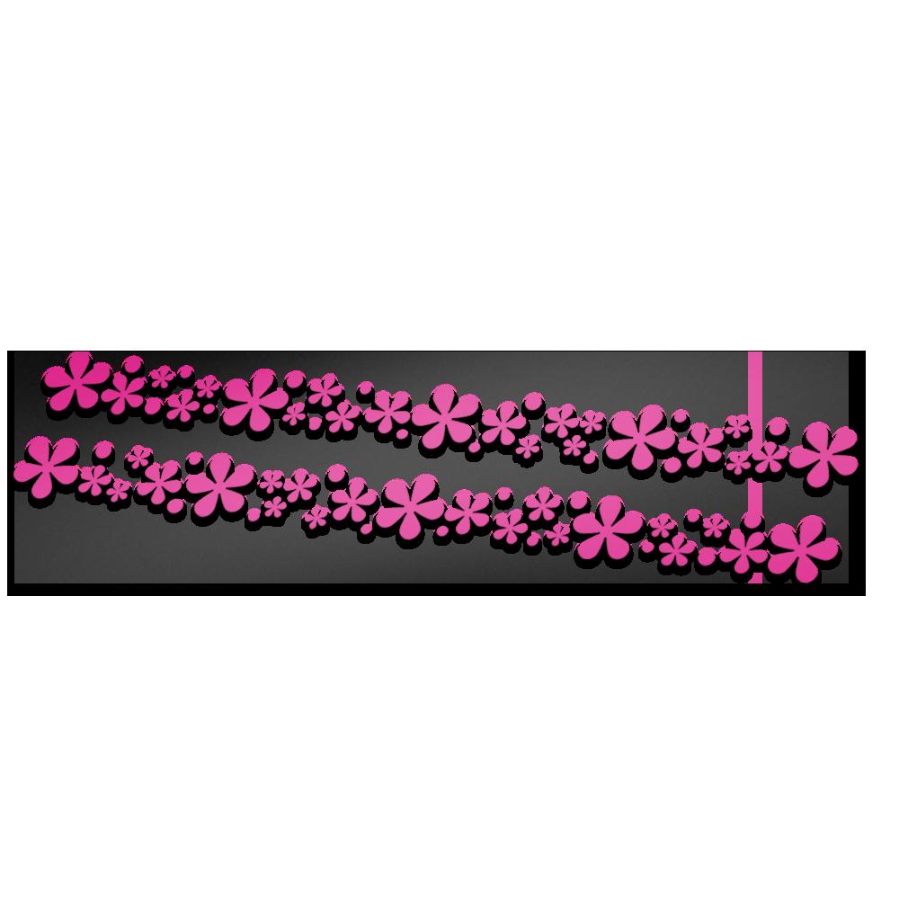 Flower striping fietsstickers