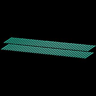 Schuine strepen striping fietssticker