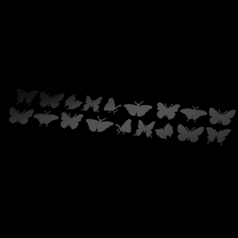 Vlinder striping fietsstickers