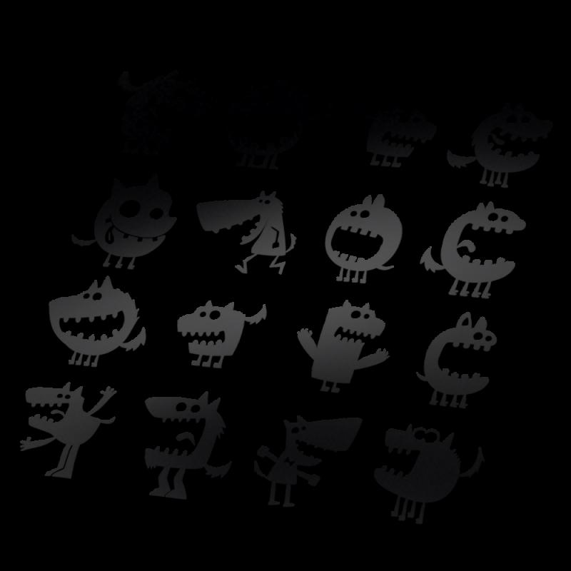 Monster Fiets stickers