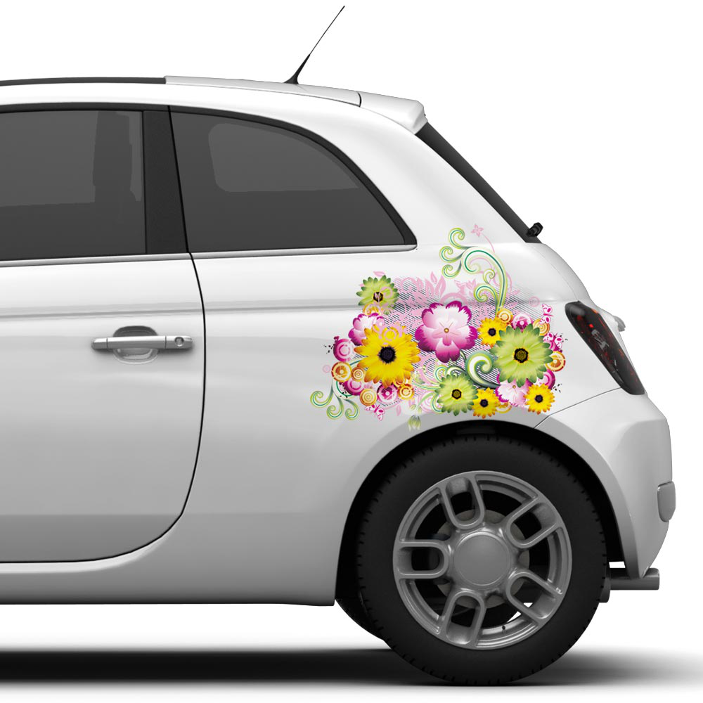Bloemen Full Color autosticker