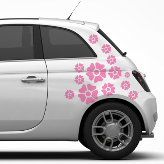 autostickers Bloemen mix