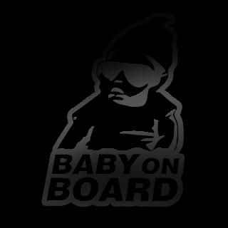 Coole baby on board eigen kleur