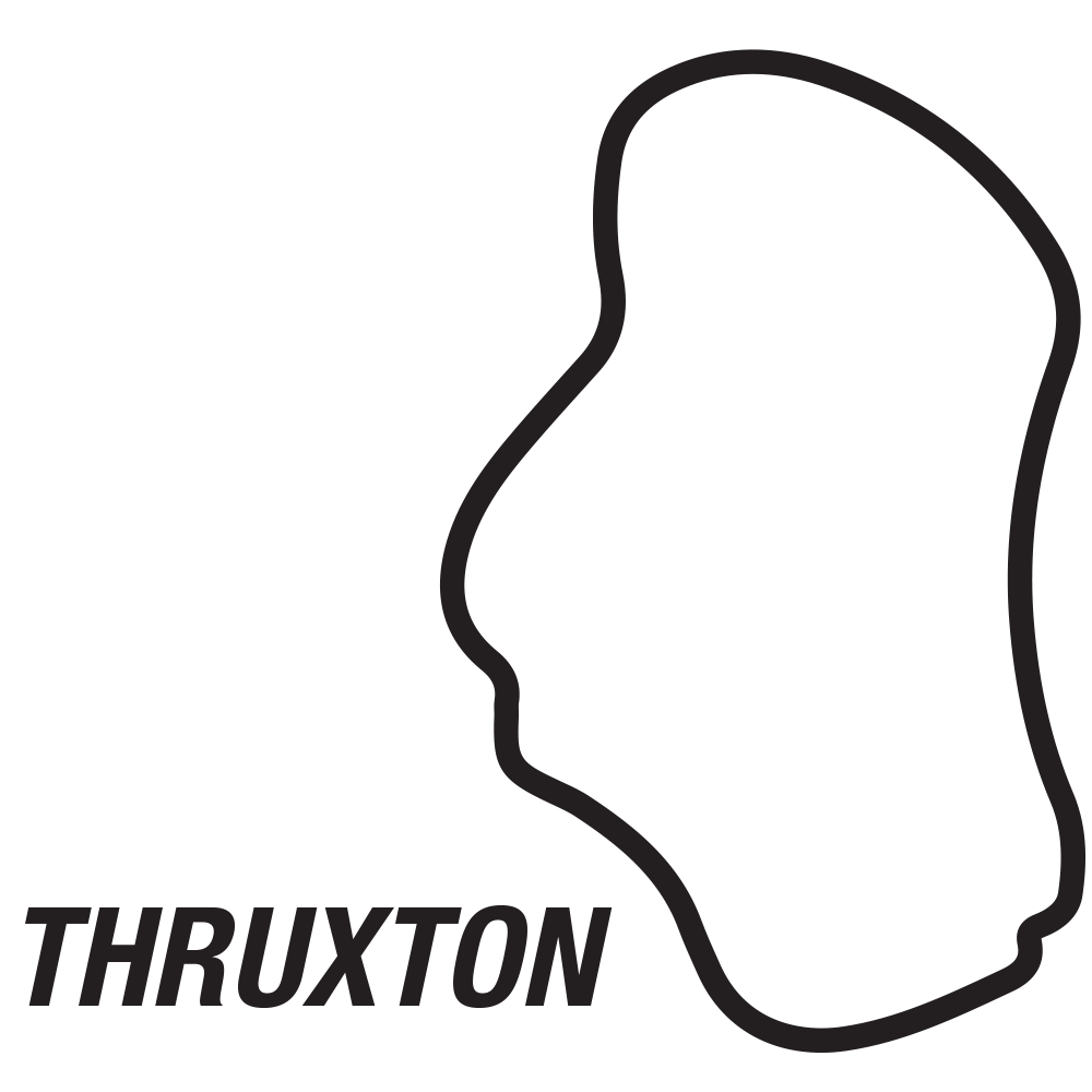 Thruxton circuit sticker