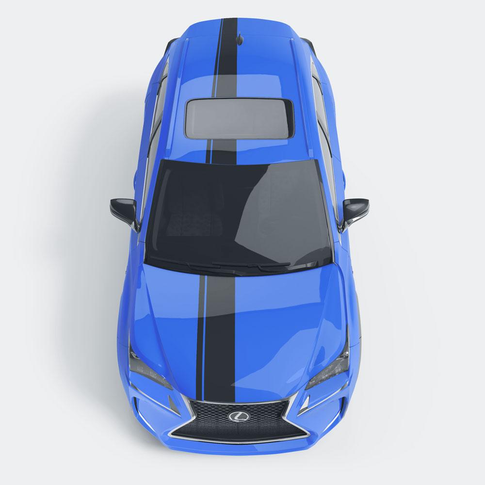 Auto striping breed en dun