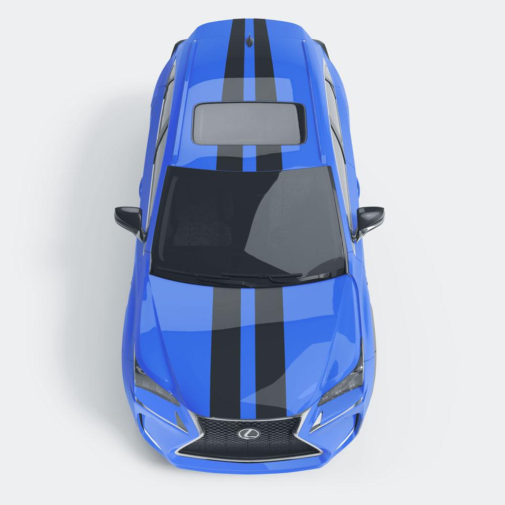 Auto striping dubb2 strepen
