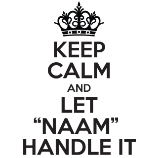 Keep calm and let eigen naam handle it