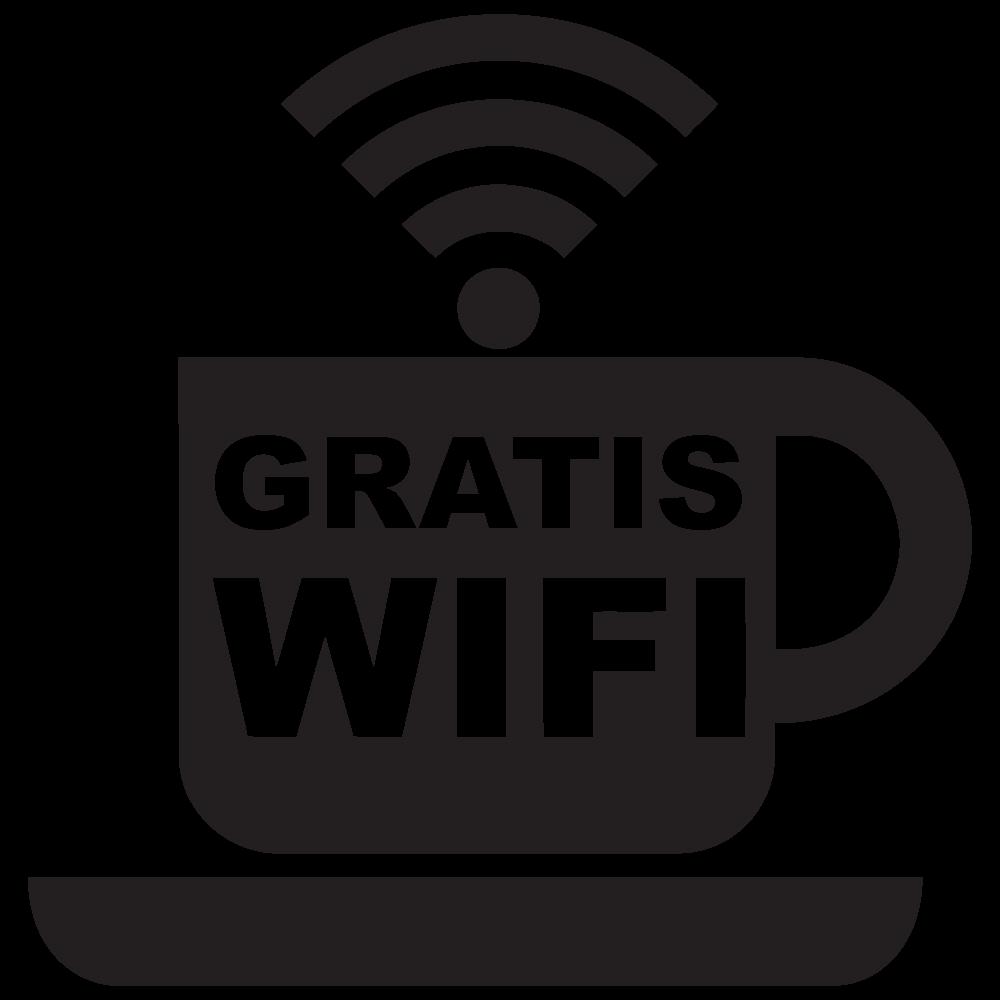 Gratis wifi koffie stijl Wifisticker