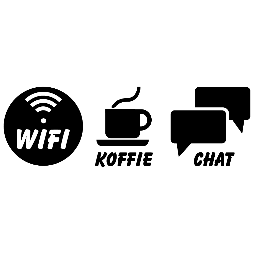 Wifi Koffie Chat Wifisticker