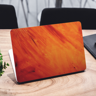 Abstract Paint Orange Laptop Sticker