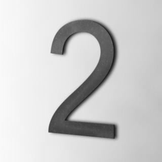 Houten Cijfer 2 Arial MDF Zwart