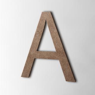 Houten Letter A Arial MDF Bruin