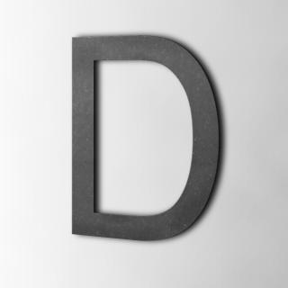 Houten Letter D Arial MDF Zwart