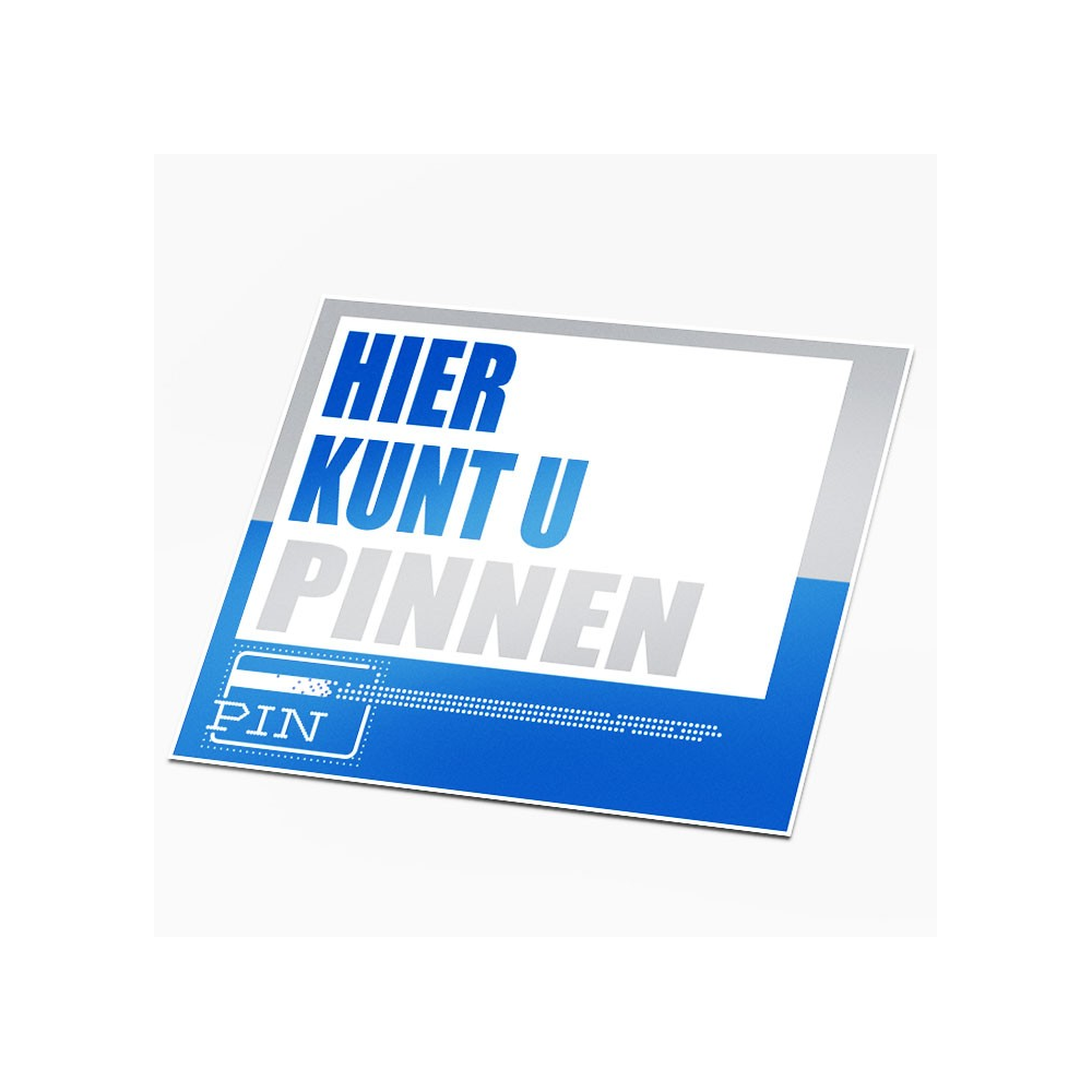Hier kunt u pinnen sticker