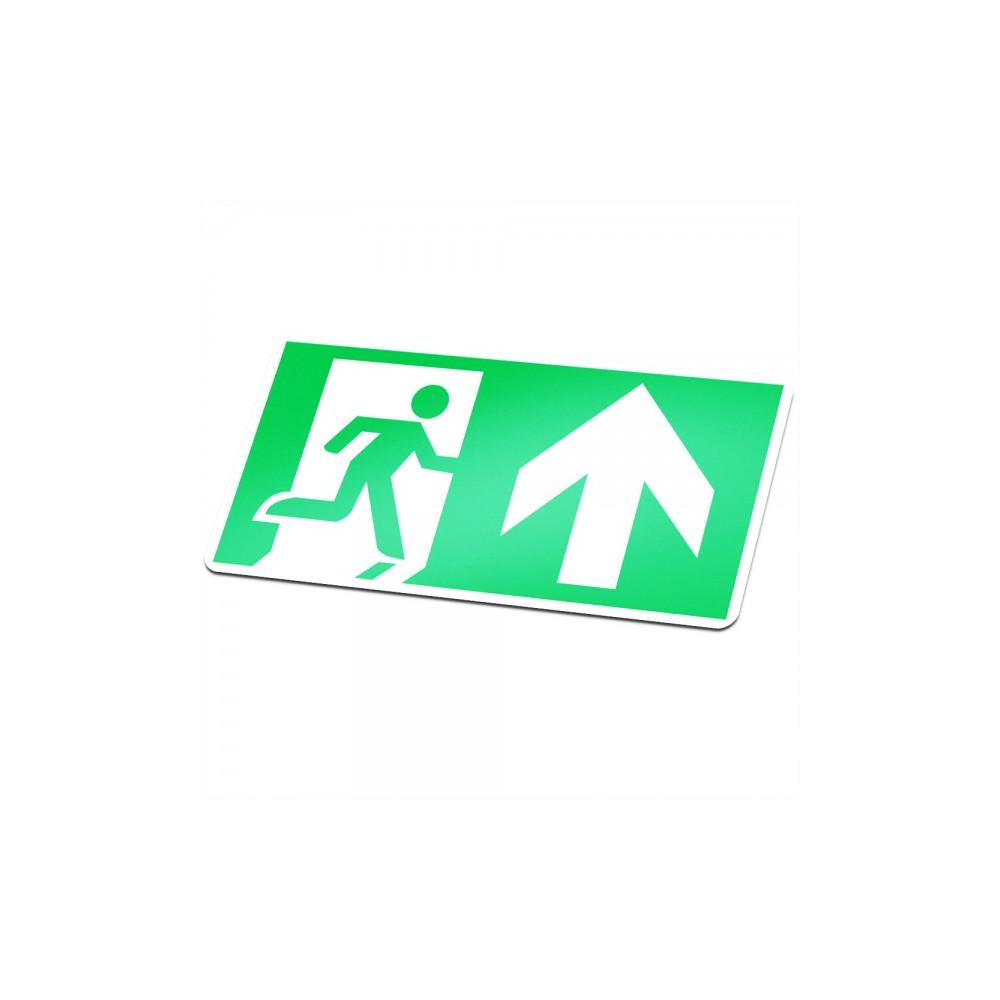 Actie! Nooduitgang sticker