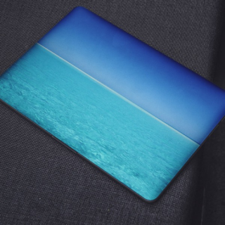 Blauw Water Laptop Sticker