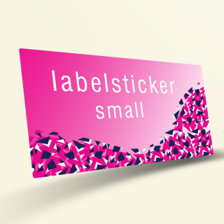 Je eigen labelstickers - Small Rechthoek