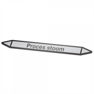 Proces-stoom Pictogramsticker Leidingmarkering