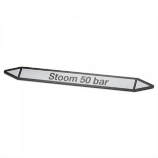 Stoom-50-bar Pictogramsticker Leidingmarkering