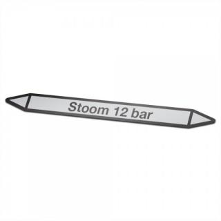 Stoom-12-bar Pictogramsticker Leidingmarkering