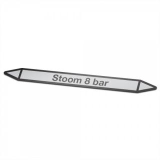 Stoom-8-bar Pictogramsticker Leidingmarkering