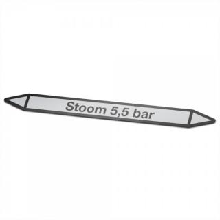 Stoom-5,5-bar Pictogramsticker Leidingmarkering