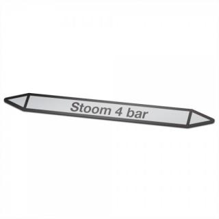 Stoom-4-bar Pictogramsticker Leidingmarkering