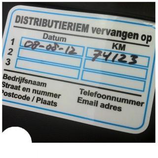 Distributieriem Service Onderhoud stickers