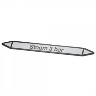 Stoom-3-bar Pictogramsticker Leidingmarkering