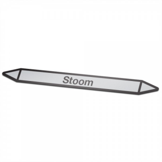 Stoom Pictogramsticker Leidingmarkering