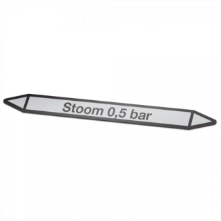 Stoom-0,5-bar Pictogramsticker Leidingmarkering