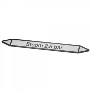 Stoom-2,8-bar Pictogramsticker Leidingmarkering