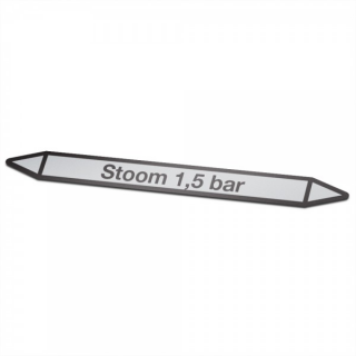 Stoom-1,5-bar Pictogramsticker Leidingmarkering