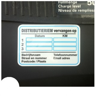 Distributieriem Service Onderhoud stickers