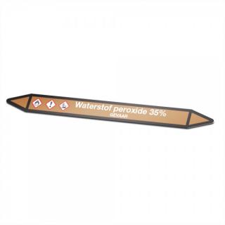 Waterstof-peroxide-35% Pictogramsticker Leidingmarkering