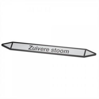 Zuivere-stoom Pictogramsticker Leidingmarkering