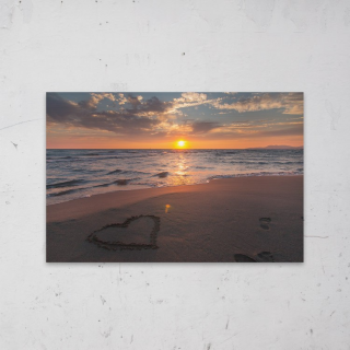 Beautiful Beach geprint op Aluminium