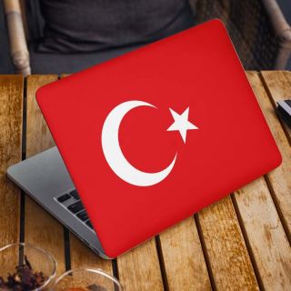 Turkse Vlag Laptop Sticker