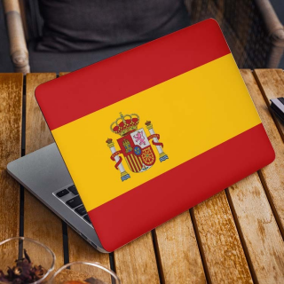 Spaanse Vlag Laptop Sticker