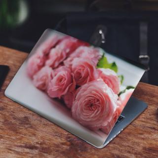 Roze Roos Collectie Laptop Sticker