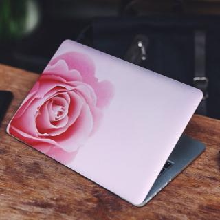 Roze Roos Links Laptop Sticker