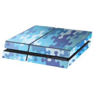Puzzel Blauw Playstation 4 Console Skin