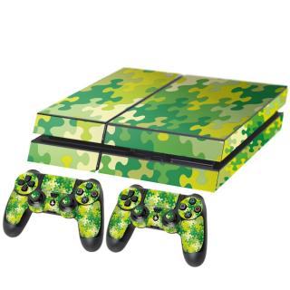 Puzzel Groen Playstation 4 Console Skin