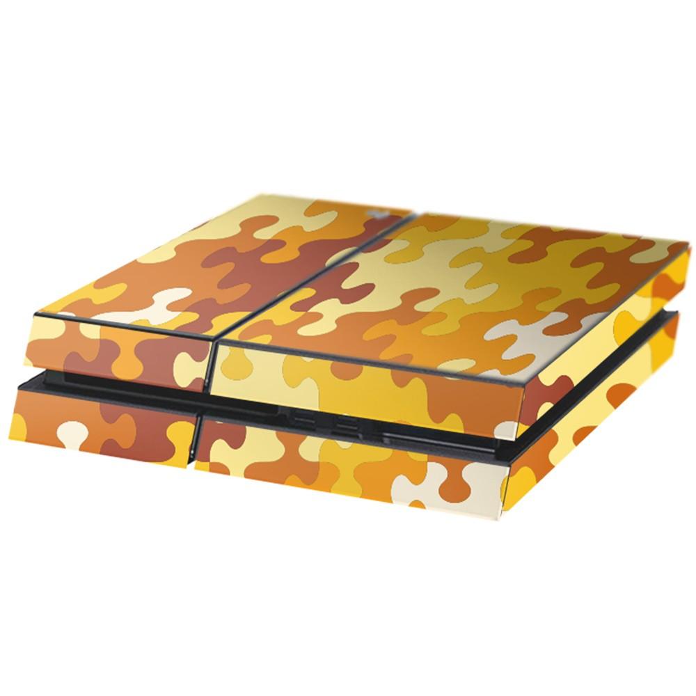 Puzzel Oranje Playstation 4 Console Skin